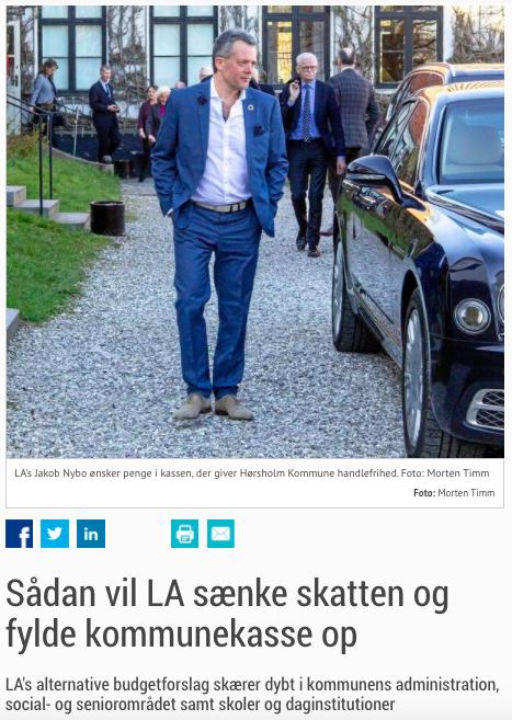 Liberal Alliance Hørsholm - Sådan vil LA sænke skatten
