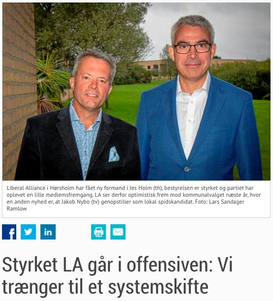 Liberal Alliance Hørsholm - Styrket LA går i offensiven