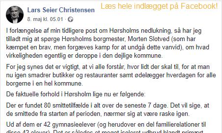 Liberal Alliance Hørsholm - COVID fornuft